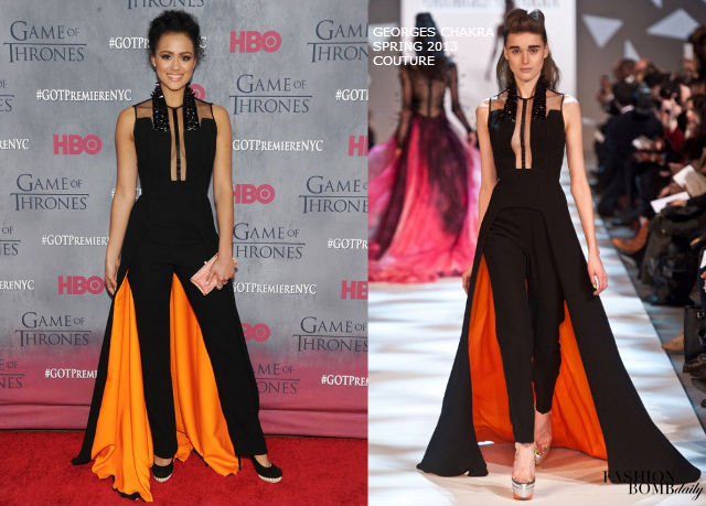 nathalie-emmanuel-game-of-thrones-season-4-premiere-nyc-georges-chakra-couture-jumpsuit-3