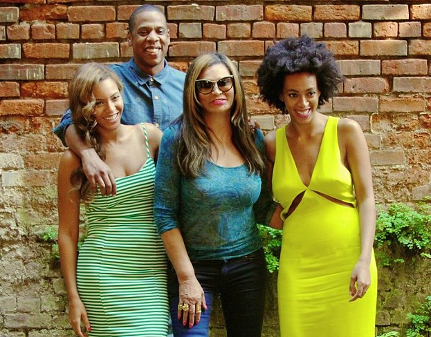 1 Solange Knowles Family Photo Cushnie et Ochs Resort 2014 Cut Out Yellow Dress