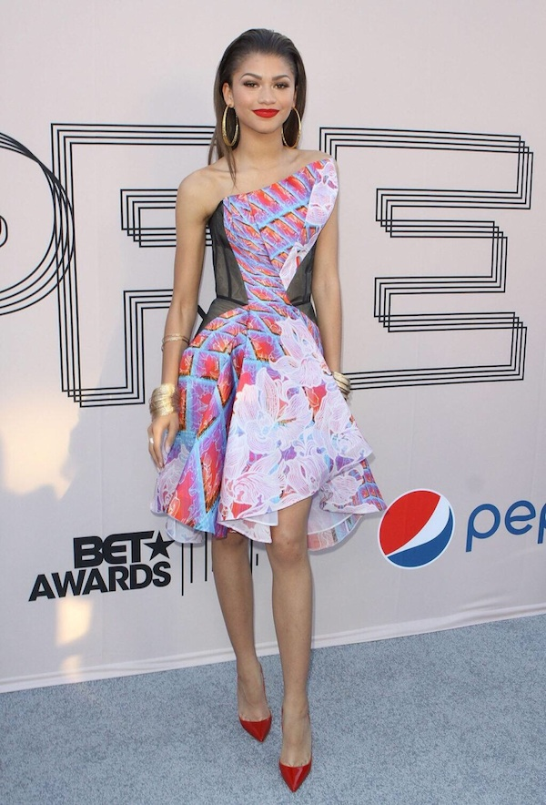 Zendaya's Pre BET 2014 Awards Celebration Peter Pilotto Printed Dress