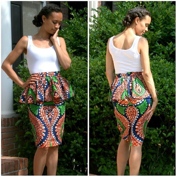 melange mode peplum skirt