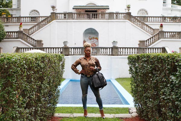 098  2  1 Let's Go Places with Claire Traveling to Madam C J Walker's Estate with Toyota fashion bomb daily claire sulmers leopard top jeanns hermes belt