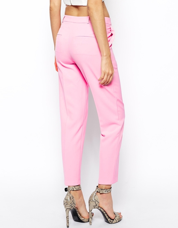 2 ASOS Trousers in Slim Ankle Graze in Pink