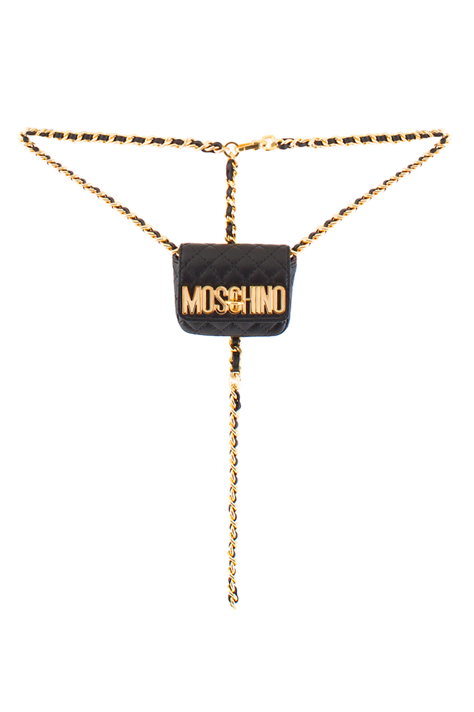 Splurge Moschino Tiny Quilted Chain Bag