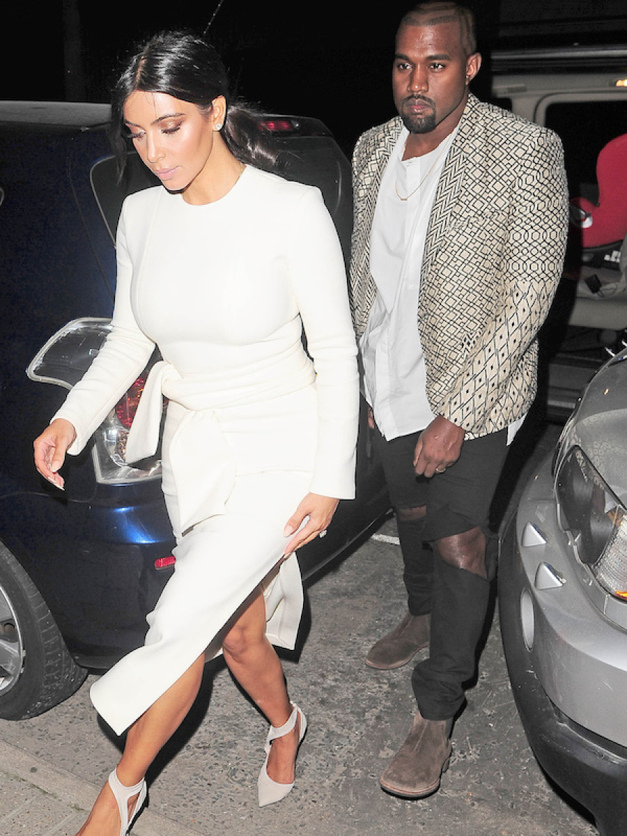 Kim Kardashian and Kanye West have a romantic date night **USA ONLY**