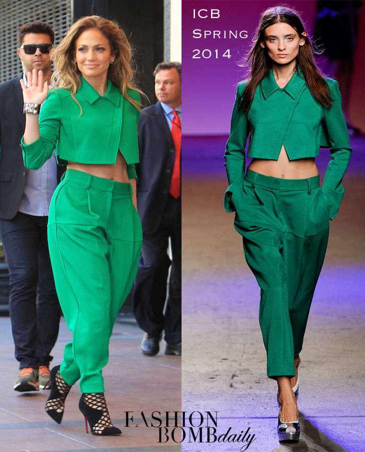 _0-Jennifer-Lopez's-American-Idol-ICB-Spring-2014-Green-Suit-and-Christian-Louboutin-Mrs-Boulglione-Cutout-Red-Sole-Booties