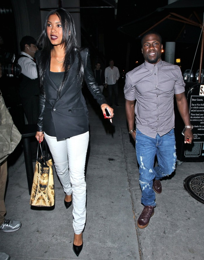 Kevin Hart and Chris Paul seen at Craigs restaurant in West Hollywood