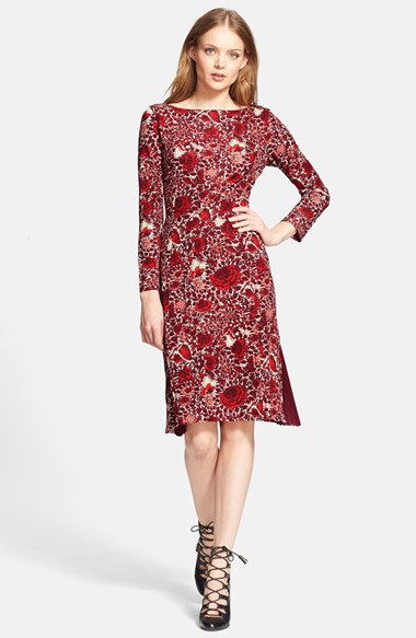 First Lady Michelle Obama's Robin Roberts Thank You America Interview Tory Burch Red Printed Ria Dress