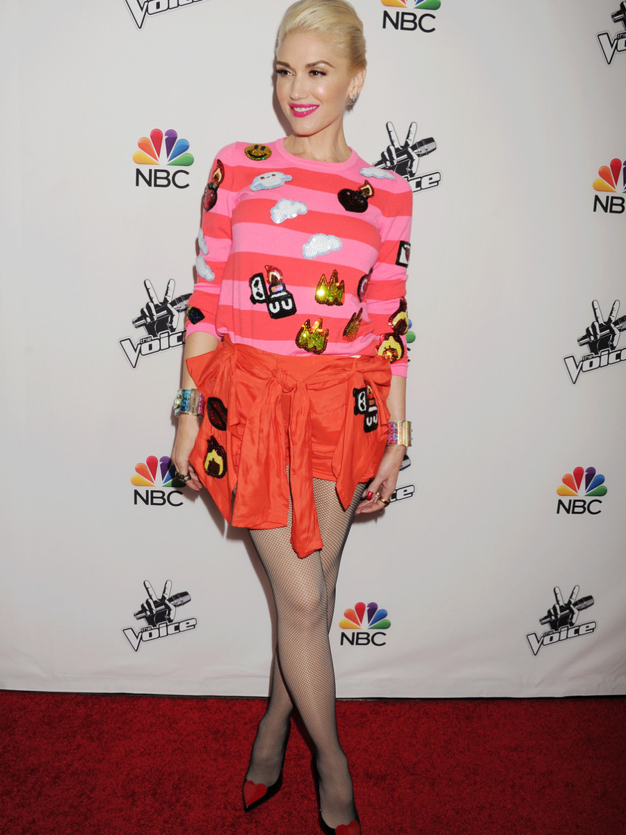 Gwen Stefani attends the NBC's 'The Voice' Season 7 Red Carpet Event at HYDE Sunset: Kitchen + Cocktails in Los Angeles