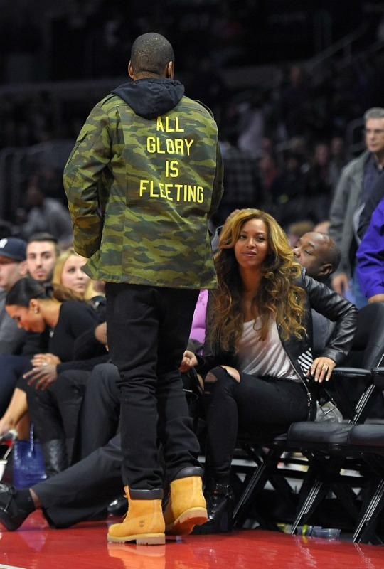 12 12 Beyonce's Nets Game Virgil Abloh Off White Fall 2014 Black Leather Biker Jacket
