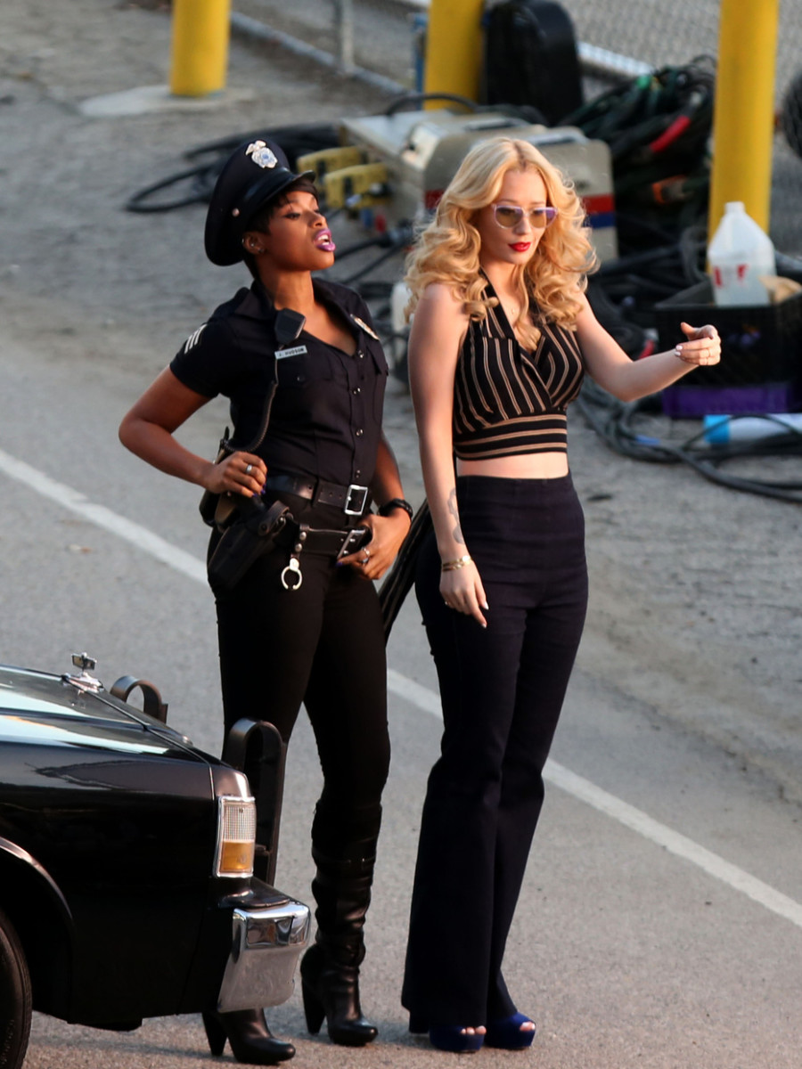 Iggy Azalea and Jennifer Hudson team for a video single 'Trouble' in Los Angeles