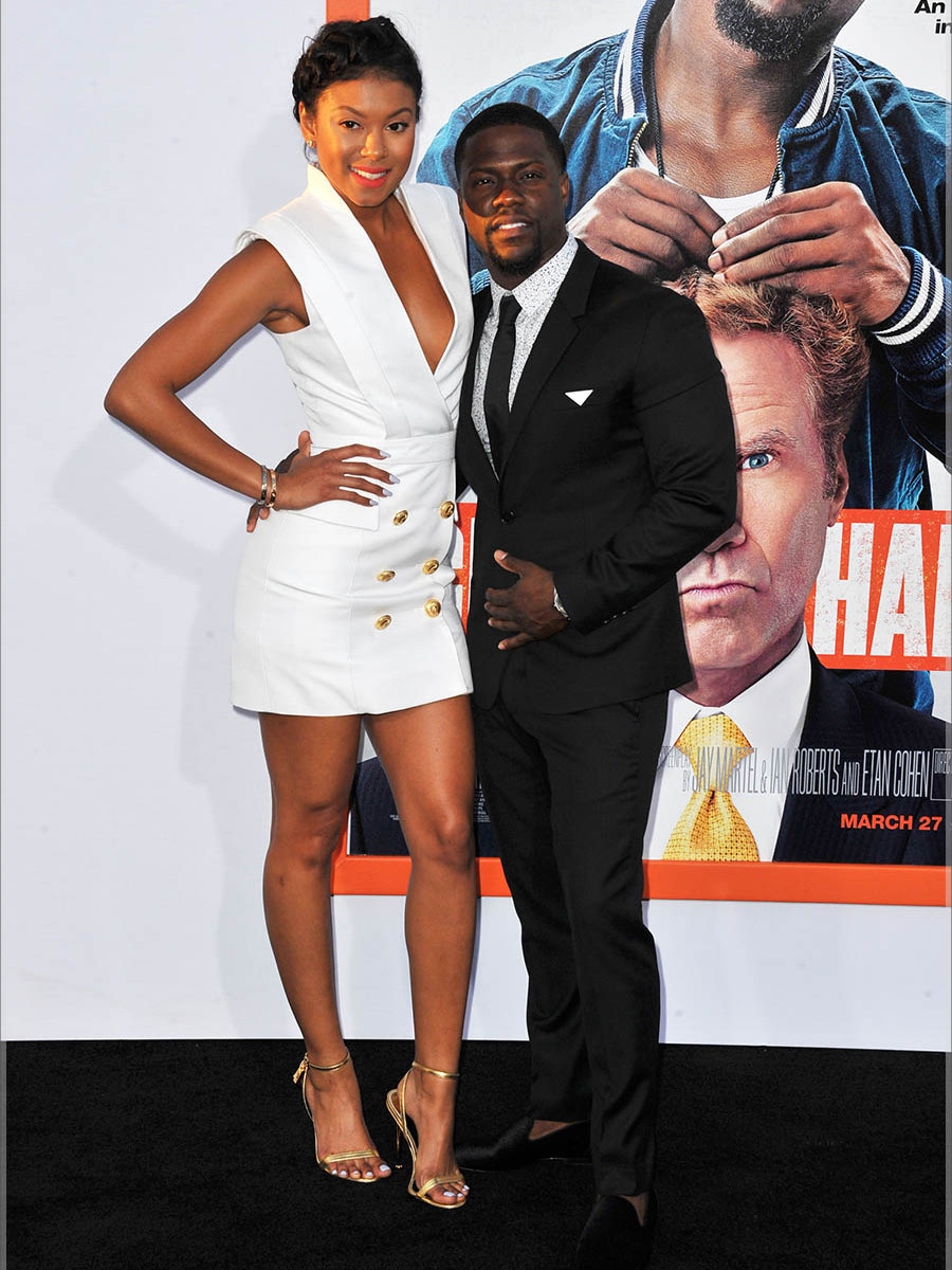 _Eniko-Parrish's-Get-Hard-Premiere-Balmain-White-Gold-Button-Dress-and-Tom-Ford-Gold-Sandals