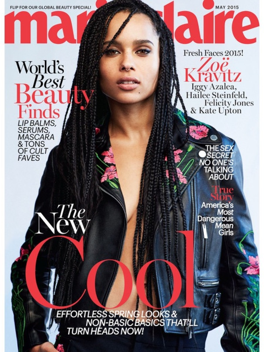 Zoë Kravitz by Dan Martensen for Marie Claire May 2015
