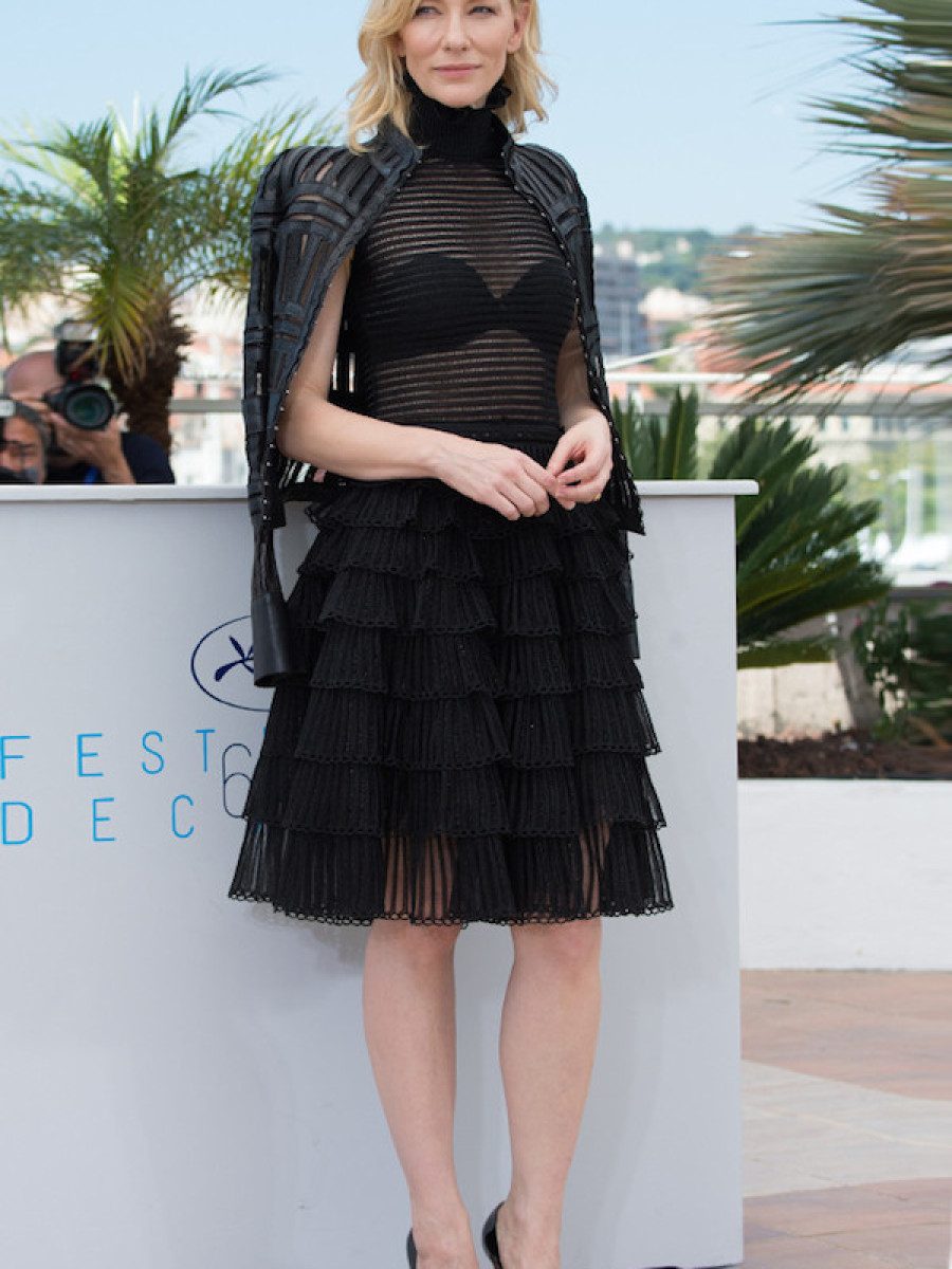 Cate Blanchett skewed elegant and edgy in black at the 2015 Cannes Film Festival.