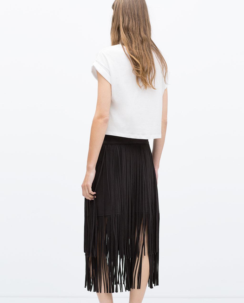 Fashion week Black long skirt zara for lady