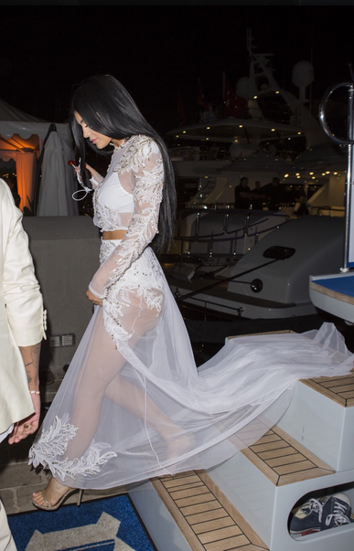 Kylie and Tyga at the MailOnline's Yacht Party in Cannes, France