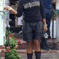 Rich Kids star EJ Johnson flaunted his slimmer physique at The Ivy in Los Angeles.