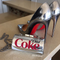 swank blue diet coke clutch
