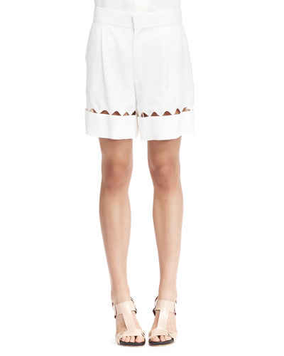 chloe-scalloped-bermuda-shorts