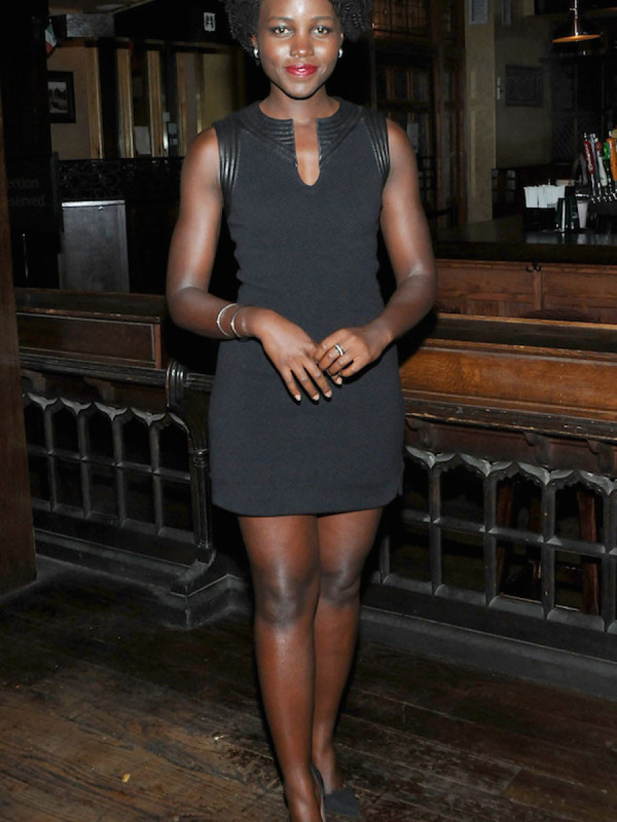 The stunning Lupita Nyong'o attended the Informed Consent Opening after party in an sleek LBD with black pumps.