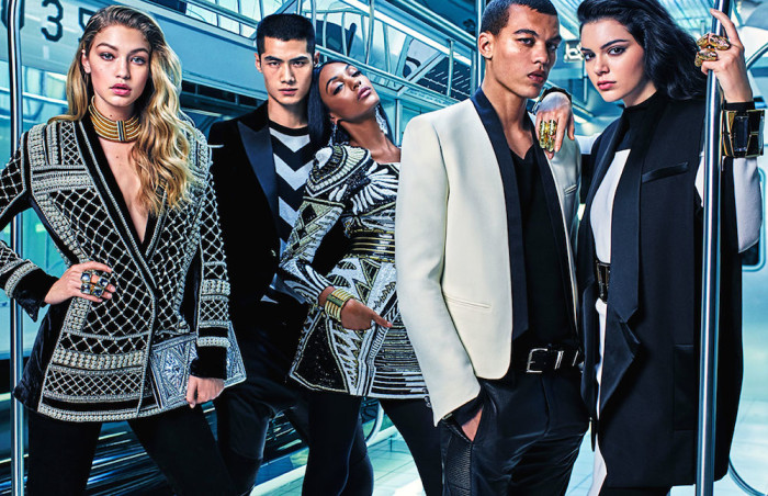 6 Kendall Jenner, Gigi Hadid and Jourdan Dunn by Mario Sorrenti for Balmain x H&M's Print Campaign
