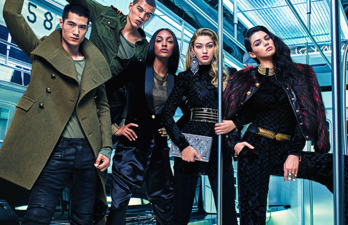8 Kendall Jenner, Gigi Hadid and Jourdan Dunn by Mario Sorrenti for Balmain x H&M's Print Campaign
