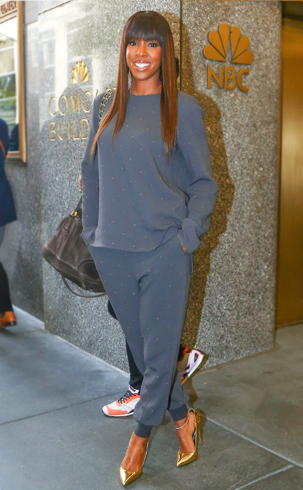 The ever stunning Kelly Rowland worked a glam 'fit at NBC Studios in New York