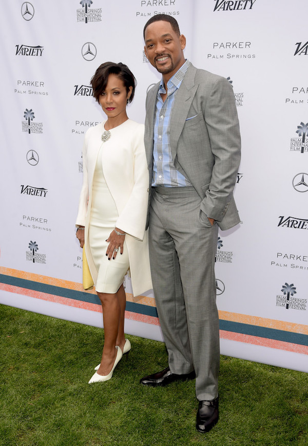 Stunning couple Jada Pinkett Smith and Will Smith beamed at the 27th Annual Palm Springs International Film Festival. Hot!