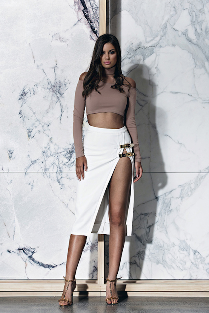 bossa-sao-paolo-white-side-buckle-detail-high-slit-maxi-skirt