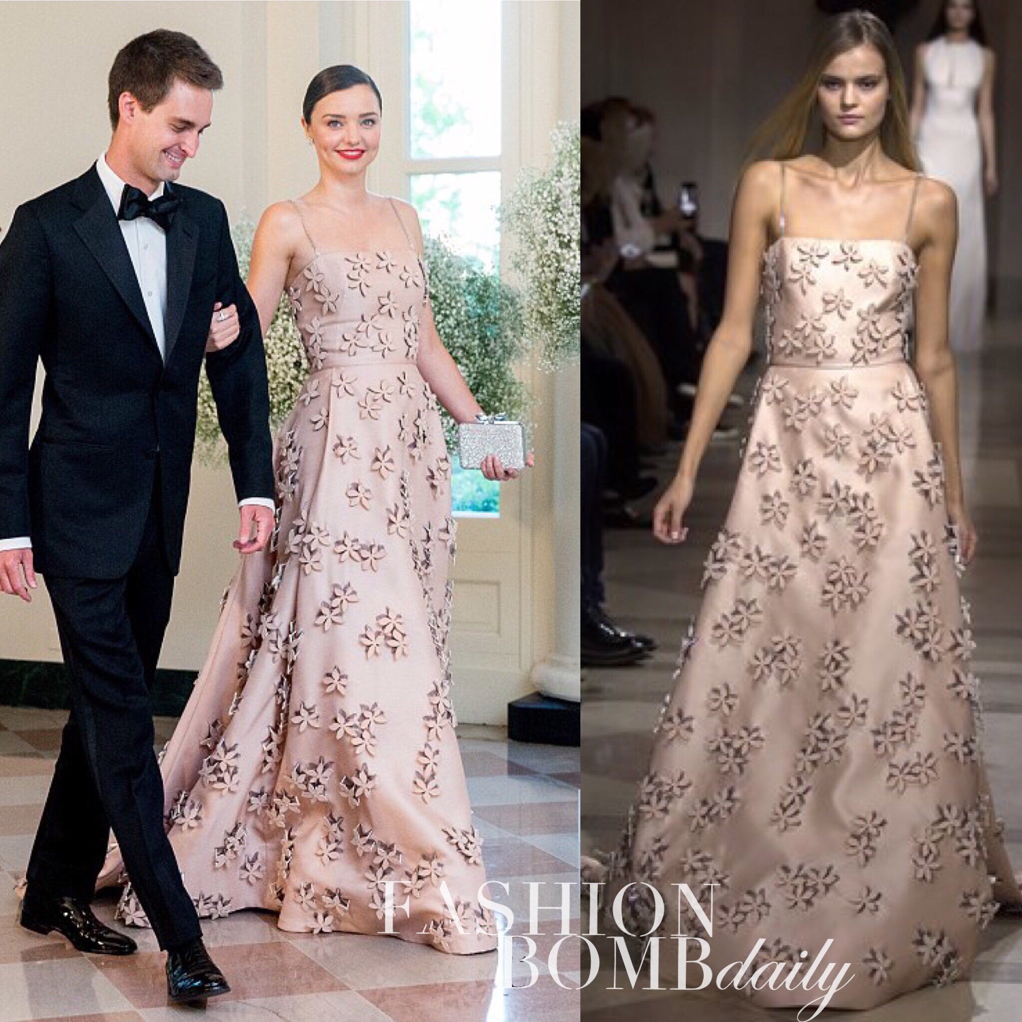 Hot Or Hmm Miranda Kerr White House State Dinner Carolina Herrera