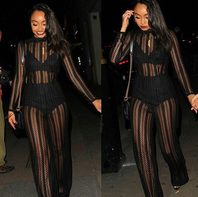 f2c2d42dd509 Steal  Leigh-Anne Pinnock s Instagram Missguided Ladder Mesh High ...