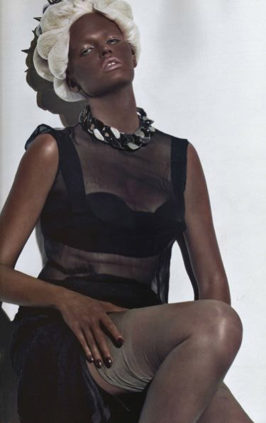 Lara Stone Blackface French Vogue