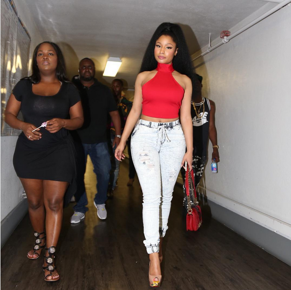 nicki minaj fashion nova red crop top jeans