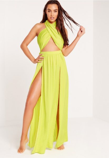 Top-swimsuits-need-this-season-ABAD-x-Missguided-halter-neck-maxi-beach-dress