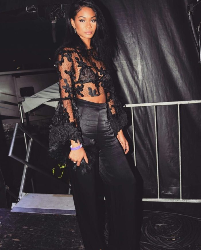 Chanel-Iman-Bacardi-Dean-Collection-Event-Alice-MacCall-California-Sun-Top-Emm-Kuo-Fur-Pouch-2