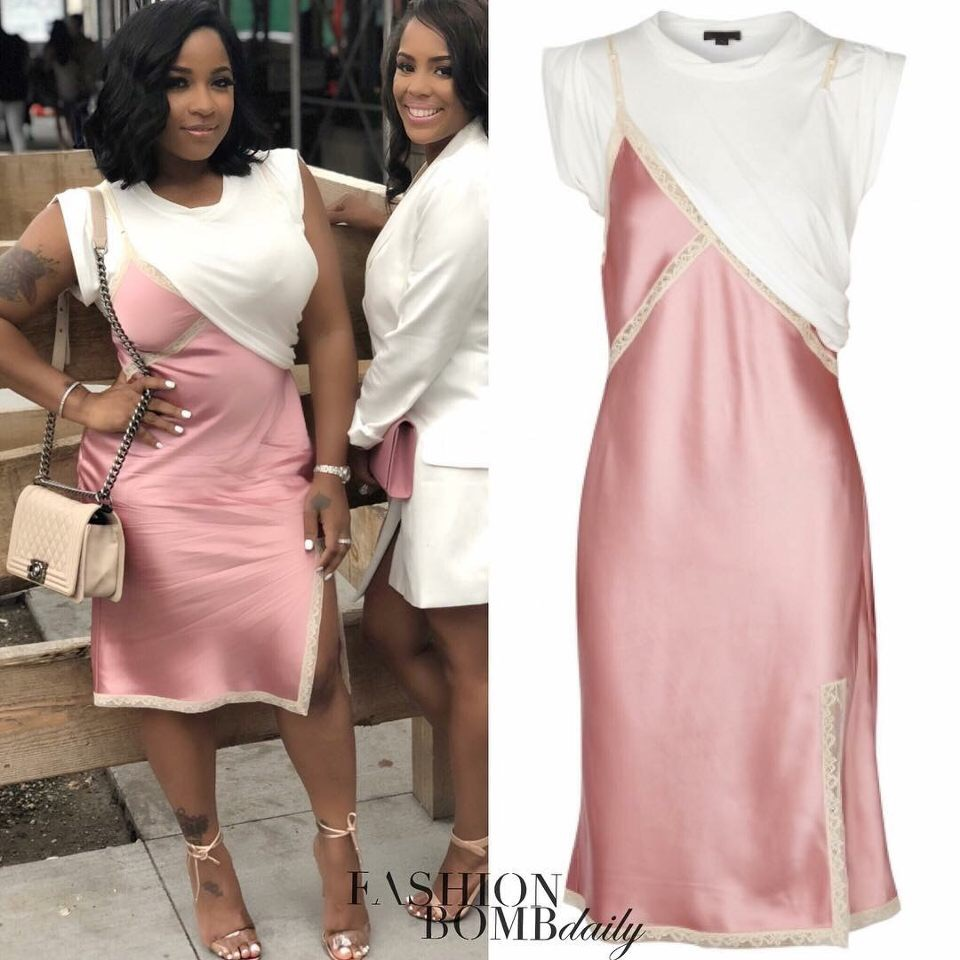 director Inmigración molécula  Splurge: Toya Wright's Instagram Alexander Wang Hybrid White T-Shirt With  Pink Satin Slip Dress – Fashion Bomb Daily Style Magazine: Celebrity  Fashion, Fashion News, What To Wear, Runway Show Reviews
