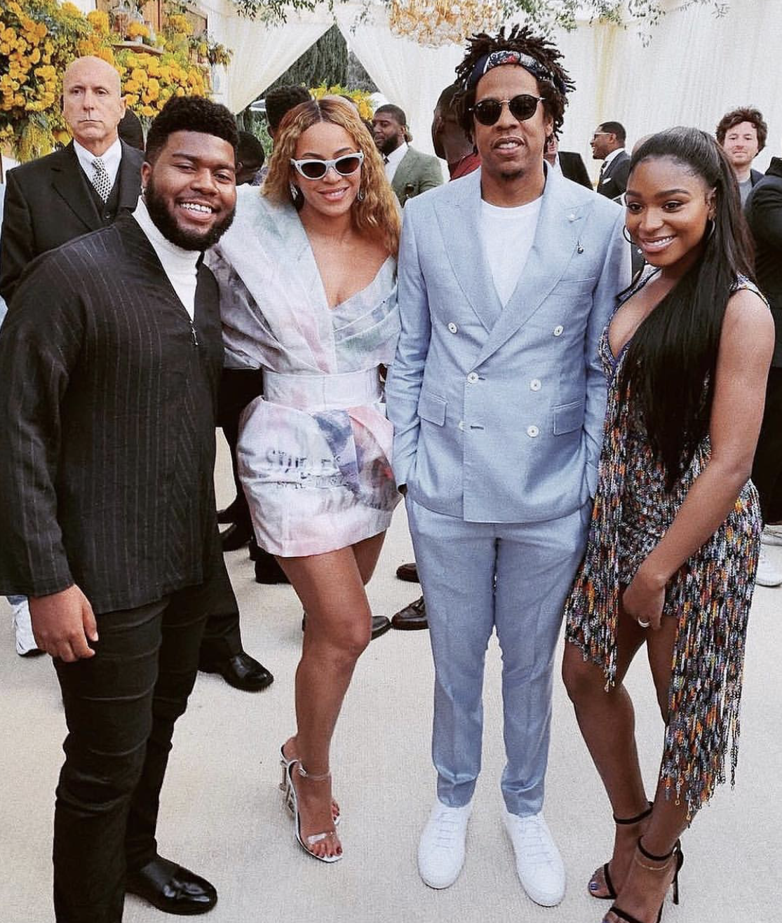 Beyonce_in_Balmain_Normani_in_Rami_Kadi_Jay_Z_in_Frere_Khalid_Roc_Nation_Brunch
