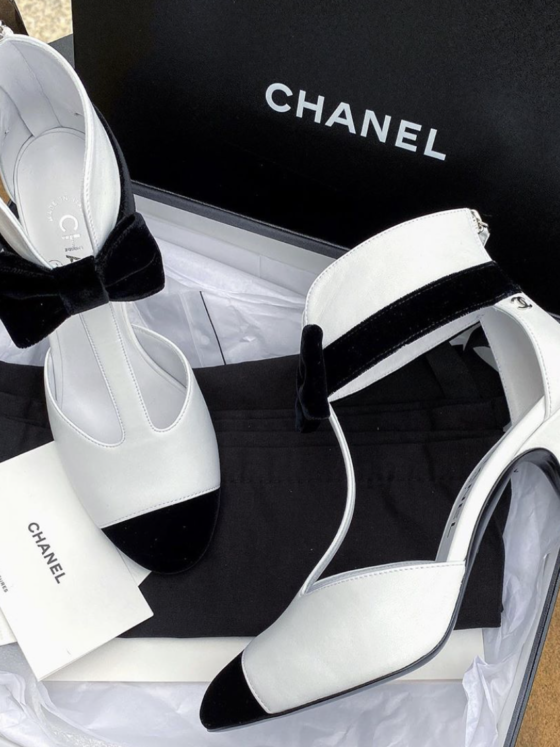 Bomb_Product_of_the_Day_Chanel_Tuxedo_Sandals