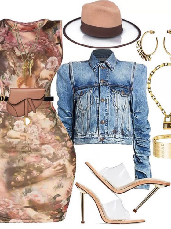 Outfit_Inspiration_Pretty_Little_Thing_Renaissance_Skirt_and_Top_R-13_Denim_Jacket_and_D'stree_Two_Tone_Fedora